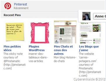 fonctions de pinterest pour facebook