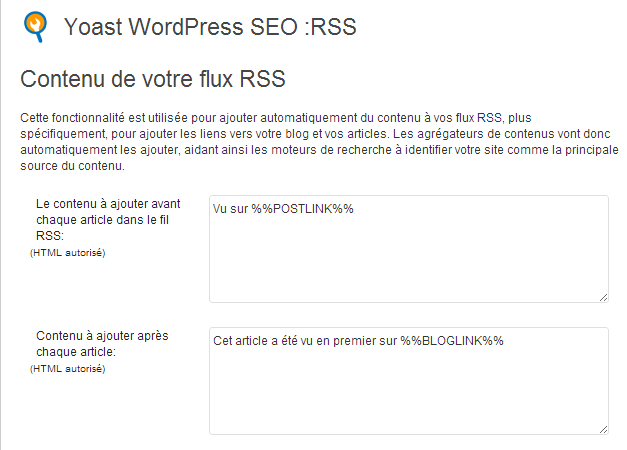 flux rss plugin seo by yoast