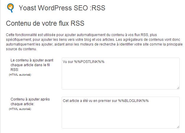 flux rss plugin seo by yoast