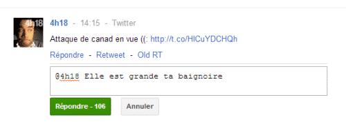 répondre aux tweet via google +