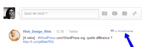 un RT via google+