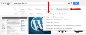 les droits de l'image sur google