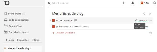 articles programmés