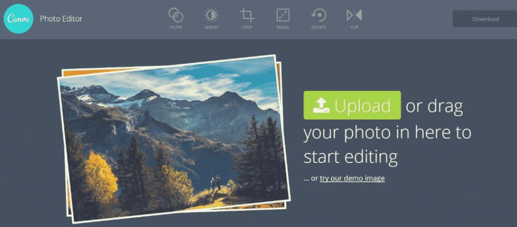 photo editor de canva pour réduire le poids de vos images