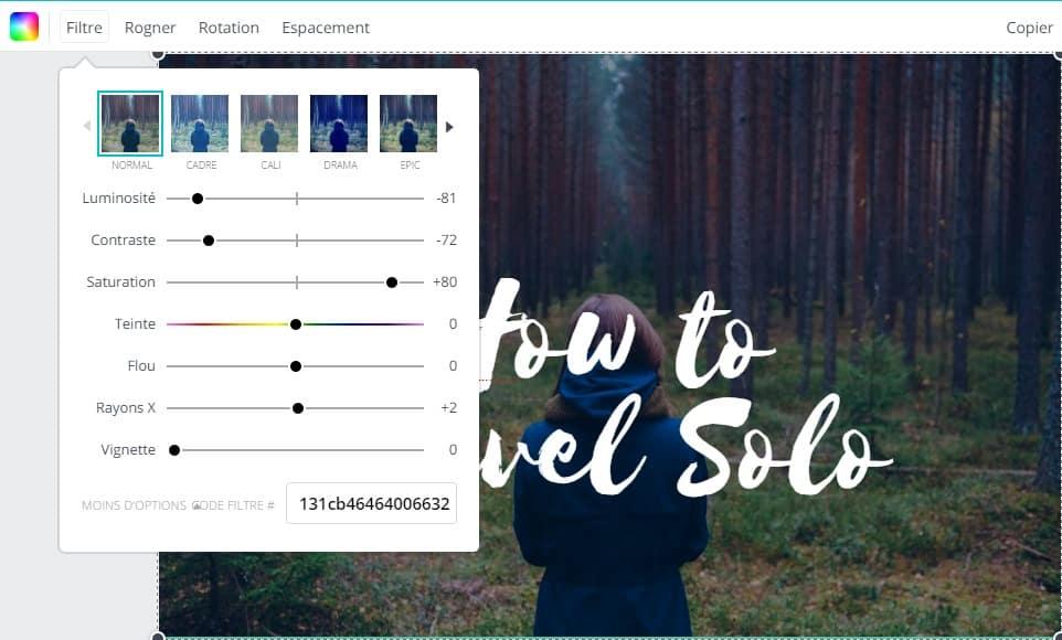 filtrer rogner améliorer pour créer vos montages photo